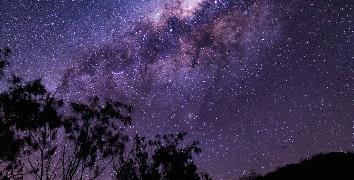 Beautiful galaxy viewed from Earth